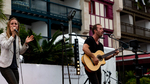 Stage scene Fete Musique Offshorespirit Hossegor Hendaye France shore Victor Mauger basque music musique live acoustic acoustique guitar guitare brothers sister surf frere soeur guitare acoustic pop folk private events soirées animations french